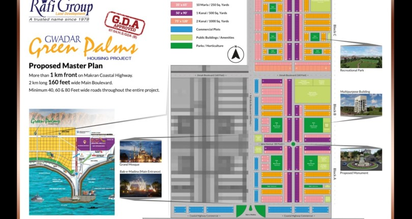 5 and 10 Marla plots of green palms has been balloted, here is the official map: