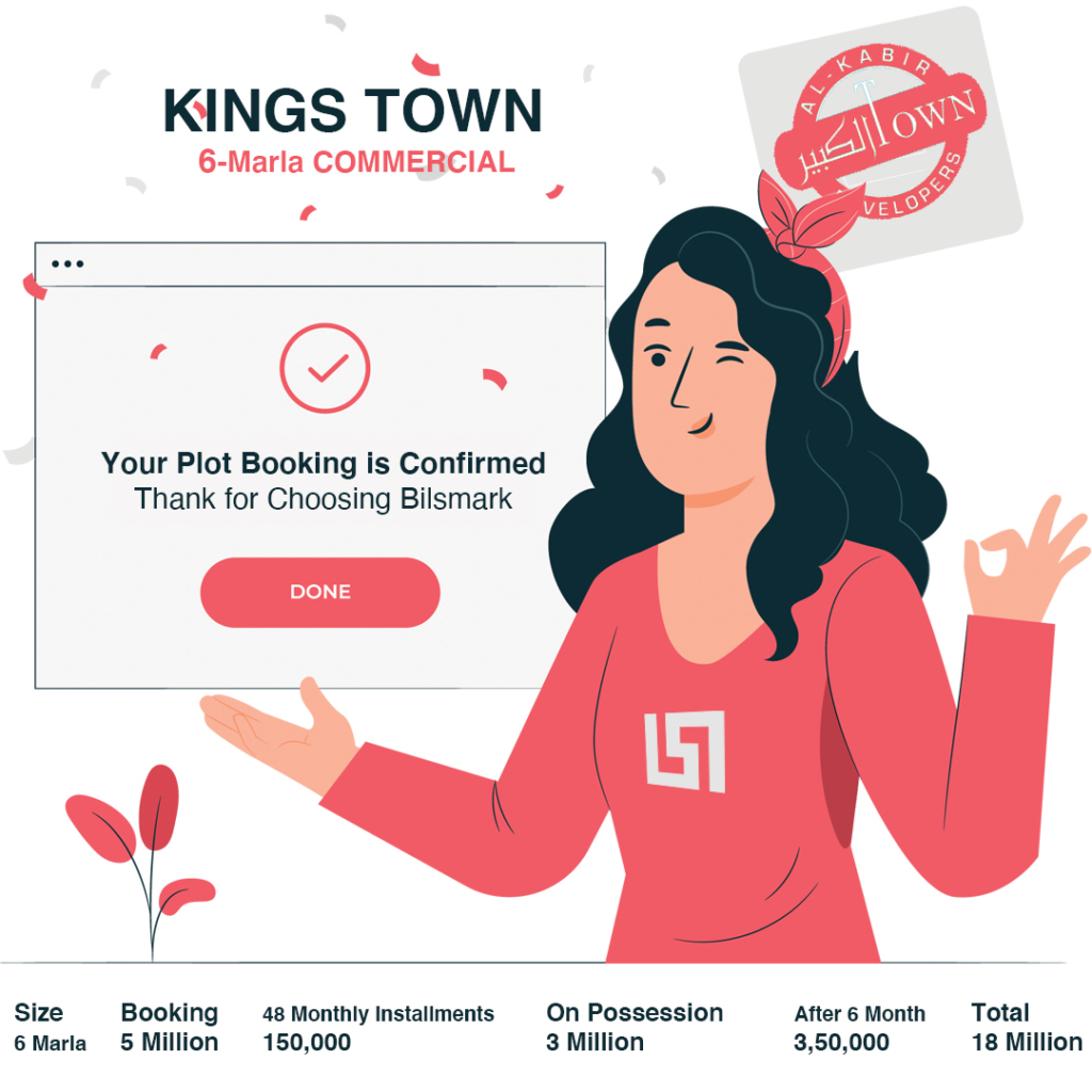 6 marla Commercial plan of Kings Town Lahore